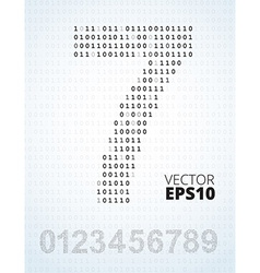 Number 0-9 alphabet from binary code vector
