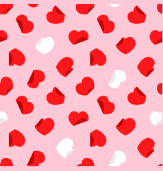 Paper origami hearts seamless pattern vector