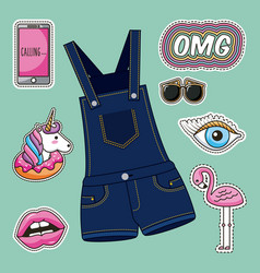 Patches fashion image vector