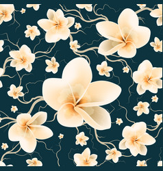 pattern with branch and spring flowers vector image