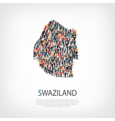 People map country Swaziland vector