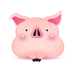piggy greeting character for chinese new year vector image
