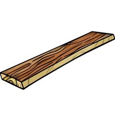 plank or board cartoon clip art vector image