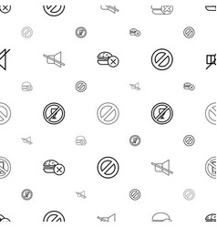 prohibited icons pattern seamless white background vector image