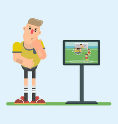 Referee replay in a flat style vector