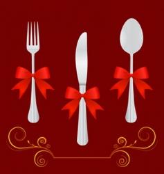Restaurant design elements vector