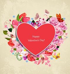 romantic invitation card valentines day beautiful vector image vector image