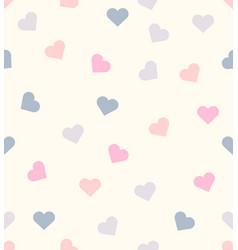 romantic mini heart seamless pattern vector image