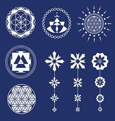 Sacred geometry art elements vector