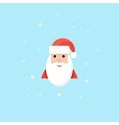 Santa Icon in flat style Christmas symbol vector