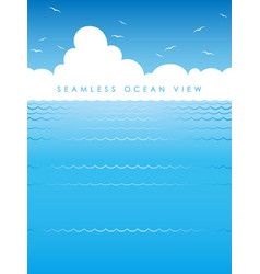 seamless ocean view vector image