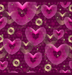 seamless purple valentine pattern vector image