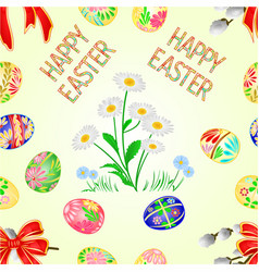 Seamless texture happy easter decoration vector