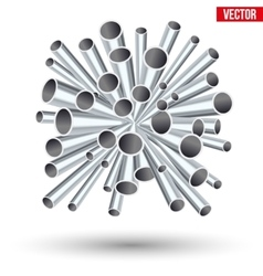 sheaf of metal pipes vector image