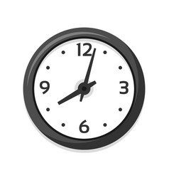 Simple white clock icon single isolated vector