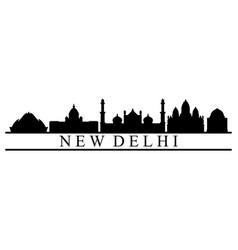 skyline new delhi vector image