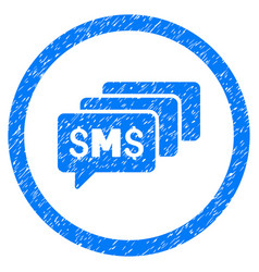 Sms messages rounded grainy icon vector