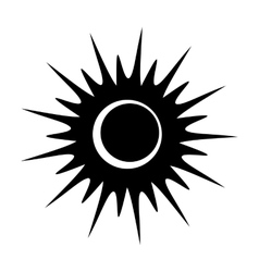 Solar eclipse single black icon vector image