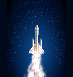 Space shuttle spacecraft cosmic rocket spaceship vector