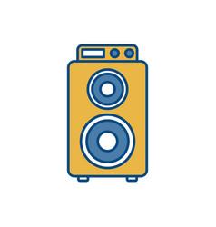 Speaker box icon vector