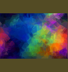 Spectrum polygonal background flat holi rainbow p vector
