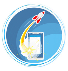 successful launch a program project or vector image