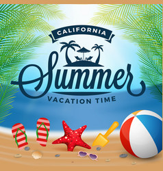 Summer typography and holiday background vector