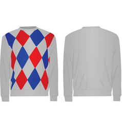 Sweater with argyle pattern vector