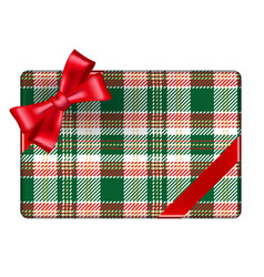 tartan wrapping vector image