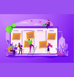 task management concept vector image