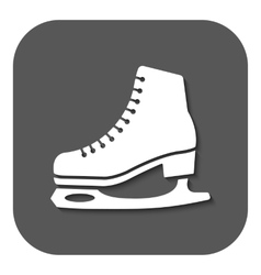 The skates icon Figure Skates symbol Flat vector image