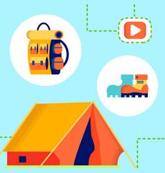Tourism camping internet blog vector