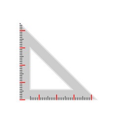 Triangle ruler scale line gauge vector