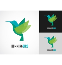 Tropical bird - humming icon vector image