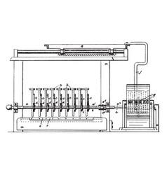 Typewriter and adding machine vintage vector