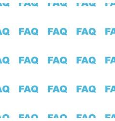 Unique Faq seamless pattern vector image