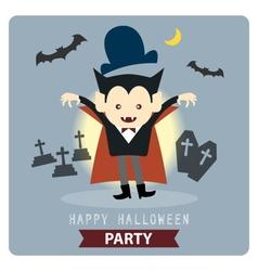 vampire halloween vector image