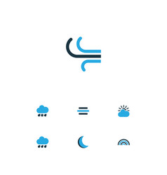 Weather colorful icons set collection of rainfall vector