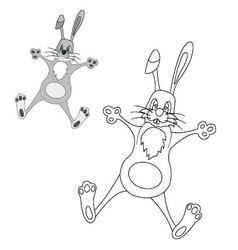 Bunny coloring vector image vector image