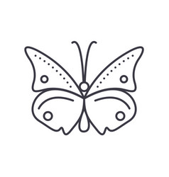 butterfly line icon sign on vector image vector image