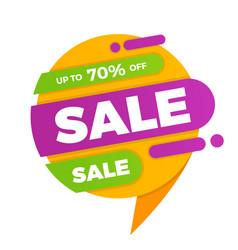 colorful speech bubble sale design banner price vector image vector image