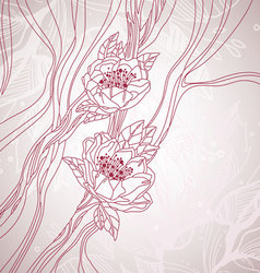 floral sketch background vector image