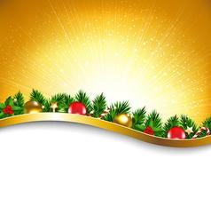 Golden Sunburst Xmas Poster vector image vector image