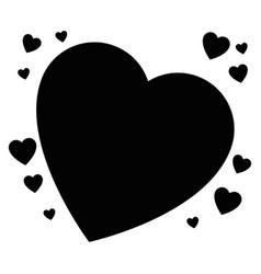 isolated big heart vector image