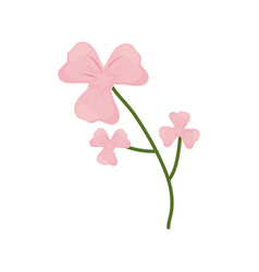 lily flower branch spring icon vector image vector image