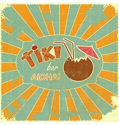 Retro Design Tiki Bar Menu vector image vector image