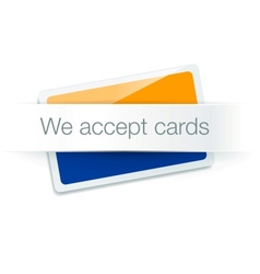 We accept cards - credit card isolated on white vector image