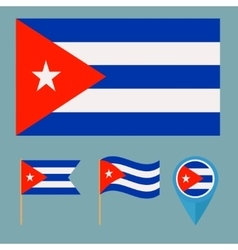 Cubacountry flag vector image