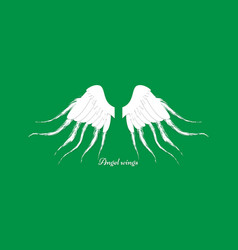 wings on green background paper concept vector image