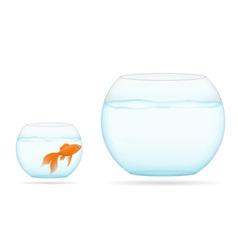 aquarium with fish 08 vector image vector image